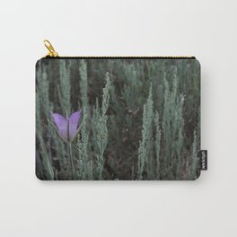 Purple and Sage Carry-All Pouch