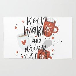 Keep Warm And Drink Cocoa Rug