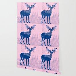 Hirsch Blue Wallpaper