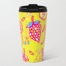 Tropicana on Yellow Travel Mug