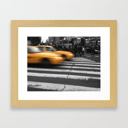NYC Yellow Taxis  Framed Art Print
