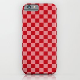 Holly Berry Checkerboard iPhone Case