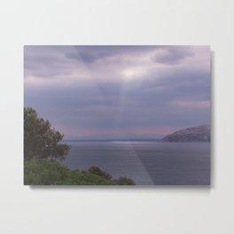 View From Poseidon Temple In Greece Metal Print