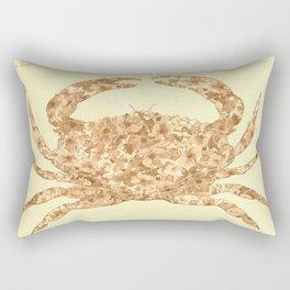 Sepia Floral Crab  Rectangular Pillow