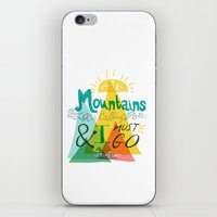 the mountains are calling iPhone & iPod Skins featuring The Mountains are Calling by hello niccoco design by nicole duquette