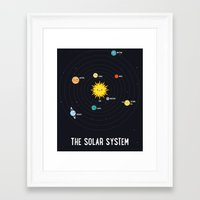 solar system Framed Art Prints featuring Solar System by Sara Showalter