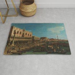 Venice, Italy - The Pier Towards Riva degli Schiavoni by Canaletto Rug