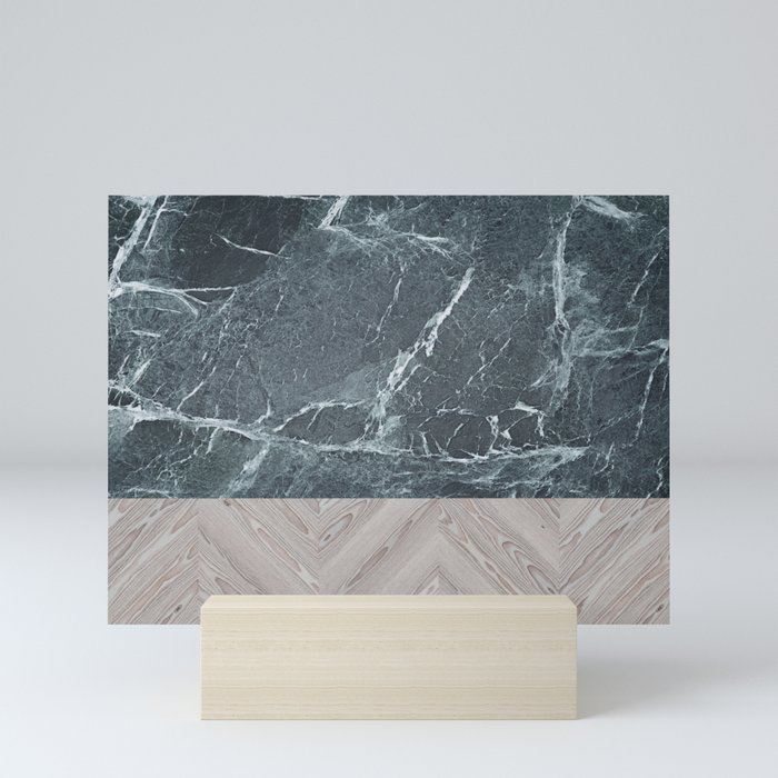 wood stone Mini Art Print
