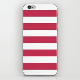 Dingy Dungeon - solid color - white stripes pattern iPhone Skin