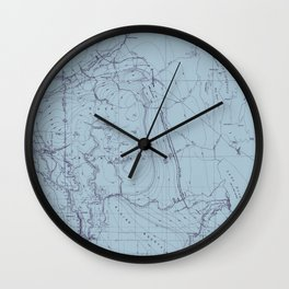 Contour Mapping v.2 Wall Clock