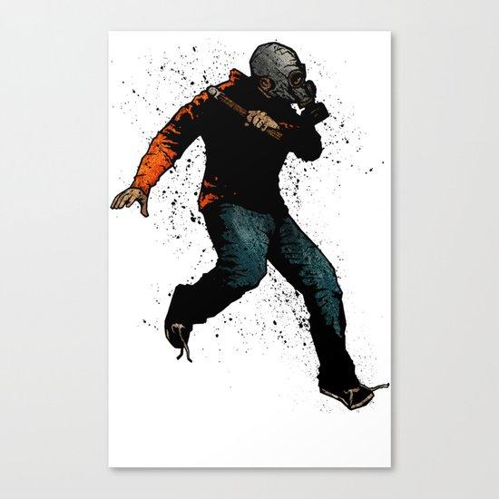 Onward Ever Downwards Canvas Print