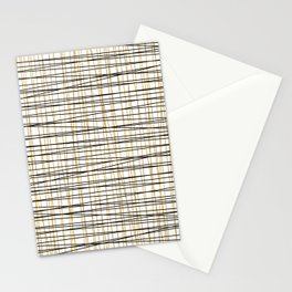 Line Art - Gold and Black Lines on White - Mix and Match with Simplicty of Life Stationery Cards