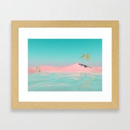 Palm Tree Oasis Framed Art Print