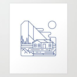 La Cabane Art Print