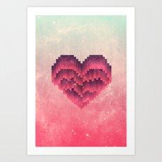 Interstellar Heart IV Art Print
