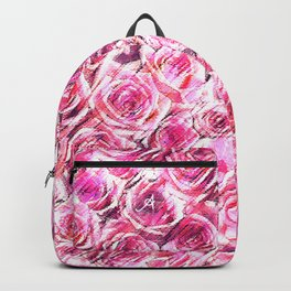 Textured Roses Pink Amanya Design Backpack