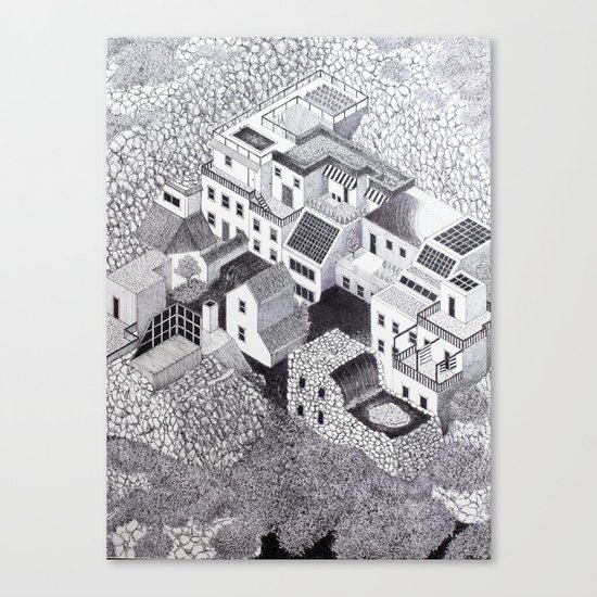 Symbiosis 001 Canvas Print