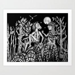 Midnight Summer's Dream Art Print