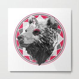 Wild child - Pink Bear Metal Print