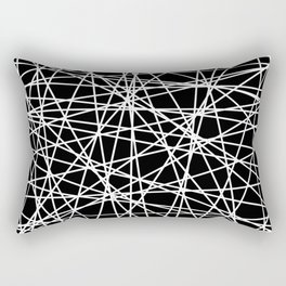 Abstract White Lines No. 2 Rectangular Pillow