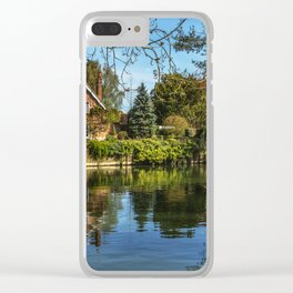Backwater Goring on Thames Clear iPhone Case