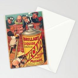 Vintage poster - Brilliant Liquide Mecano Stationery Cards