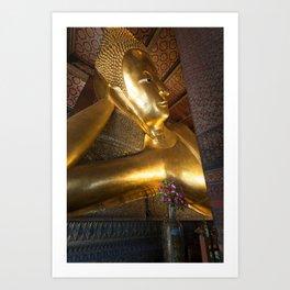 Reclining Buddha in Bangkok Art Print