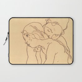 """Egon Schiele """"Woman and Girl Embracing"""" Laptop Sleeve"""