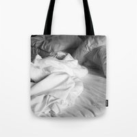 bed Tote Bags featuring Bed by ZenzPhotography