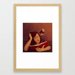 Book reading Framed Art Print