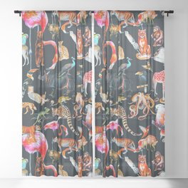 Wild life I Sheer Curtain