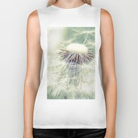weed Biker Tanks featuring a weed by Bonnie Jakobsen-Martin