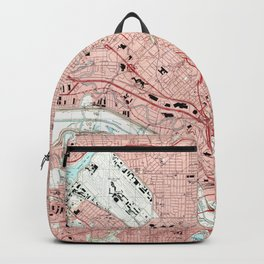 Dallas Texas Map (1995) Backpack