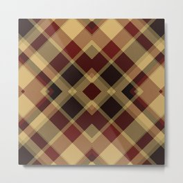 Colors Of Christmas (Plaid 3) Metal Print