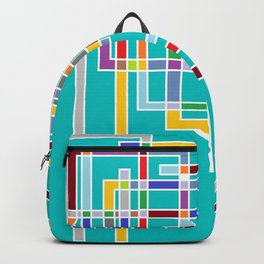 Abstract Design colorful Squares - Minimalistic doodles art Backpack