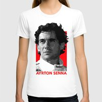 senna T-shirts featuring Formula One - Ayrton Senna by Vehicle