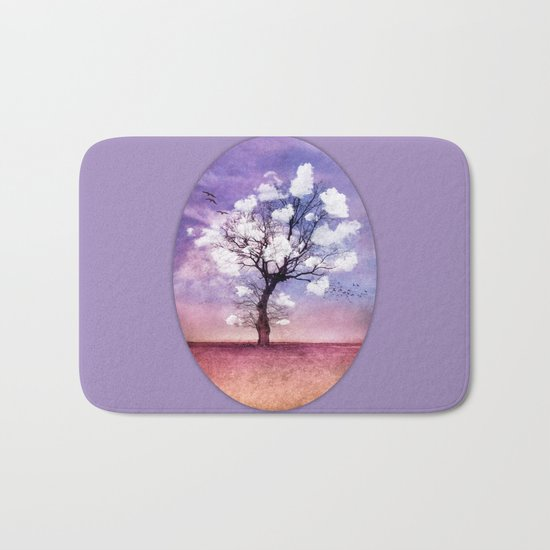 ATMOSPHERIC TREE - Pick me a cloud III Bath Mat
