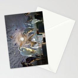 Fantasy Image of Bird Gathering Stationery Cards