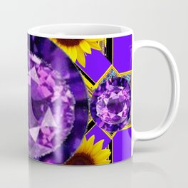 WESTERN AMETHYST GEMS PURPLE SUNFLOWER ART Coffee Mug