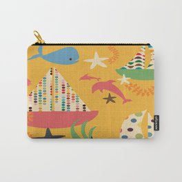 boat yellow Carry-All Pouch