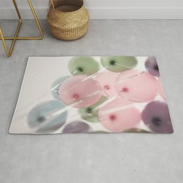colored pastel balloons Rug