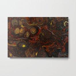 Dirty Acrylic Paint Pour 21, Fluid Art Reproduction Metal Print