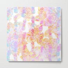 Abstract Pastel Pineapple Metal Print