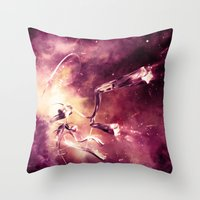 abyss Throw Pillows featuring Abyss by Harold Urquiola