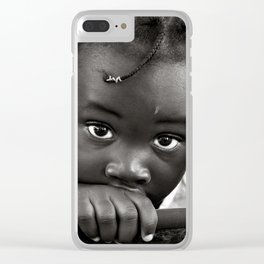 LOOKING INTO MY INNOCENT EYES Clear iPhone Case