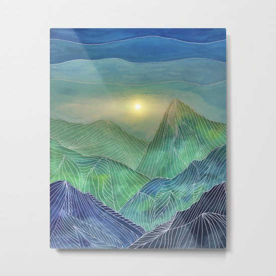 Lines in the mountains V Metal Print