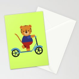 Tiger on Scooter Stationery Cards