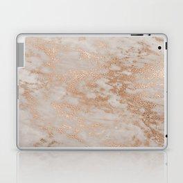 Rose Gold Copper Glitter Metal Foil Style Marble Laptop & iPad Skin