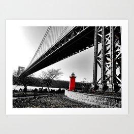 The Little Red Lighthouse - George Washington Bridge NYC Art Print