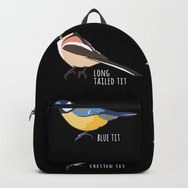 Bird watching Gift - Blue tit, Great tit Backpack